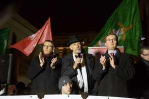 Protest Nowej Prawicy. Fotografia Yassen Hristov.