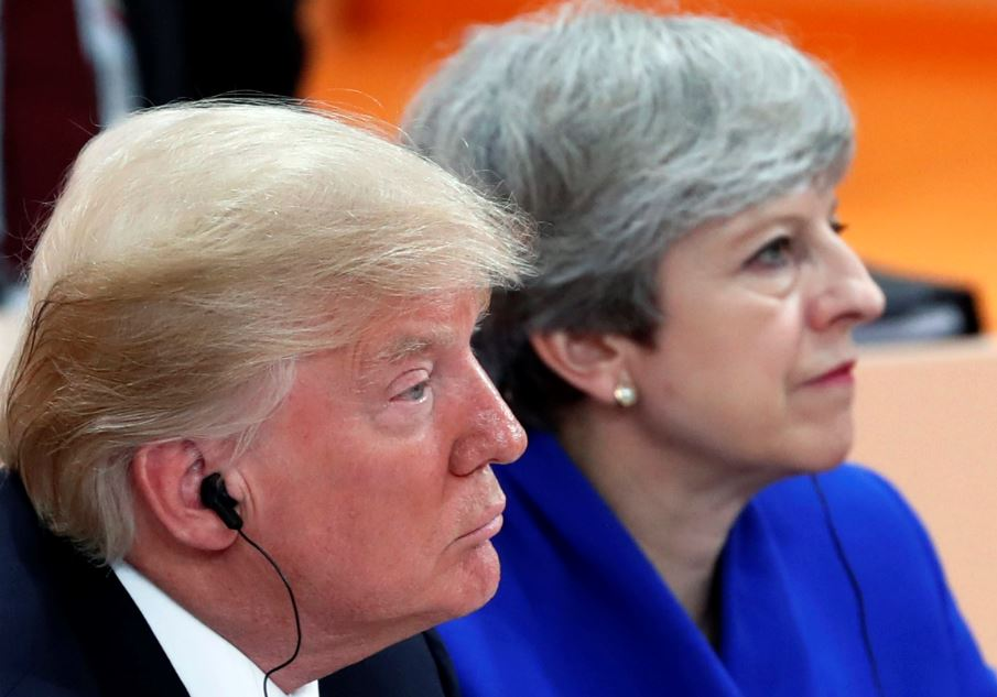 Donald Trump i Theresa May. Foto: PAP/EPA