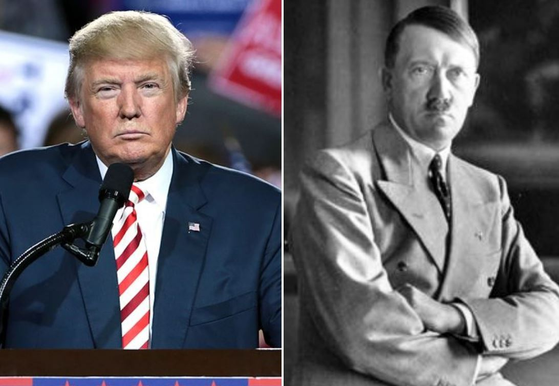 trump hitler usa lewactwo