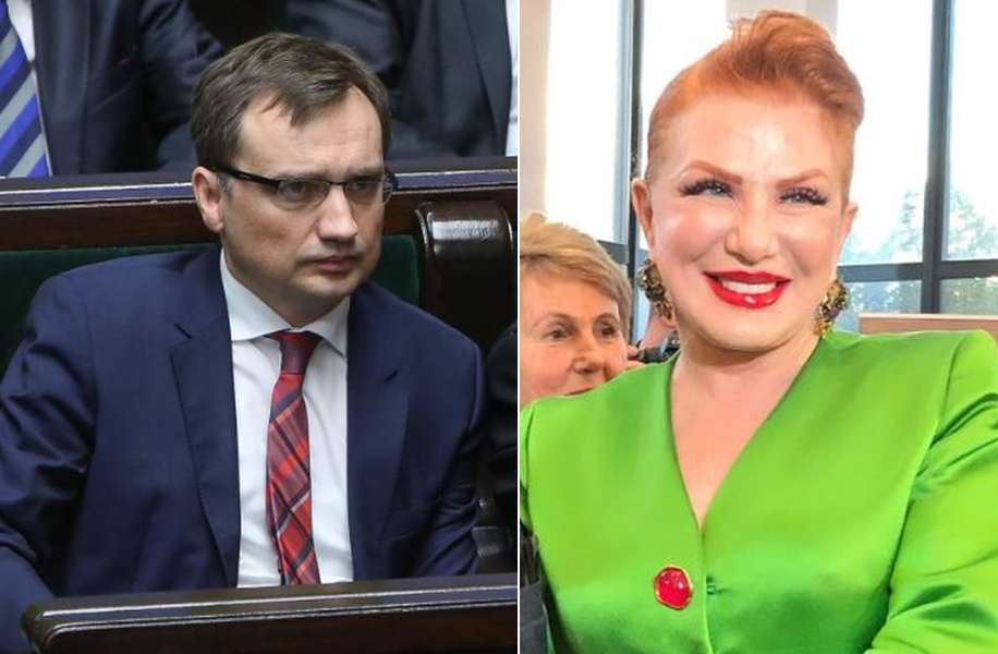 Zbigniew Ziobro i Georgette Mosbacher. / fot. PAP/Twitter