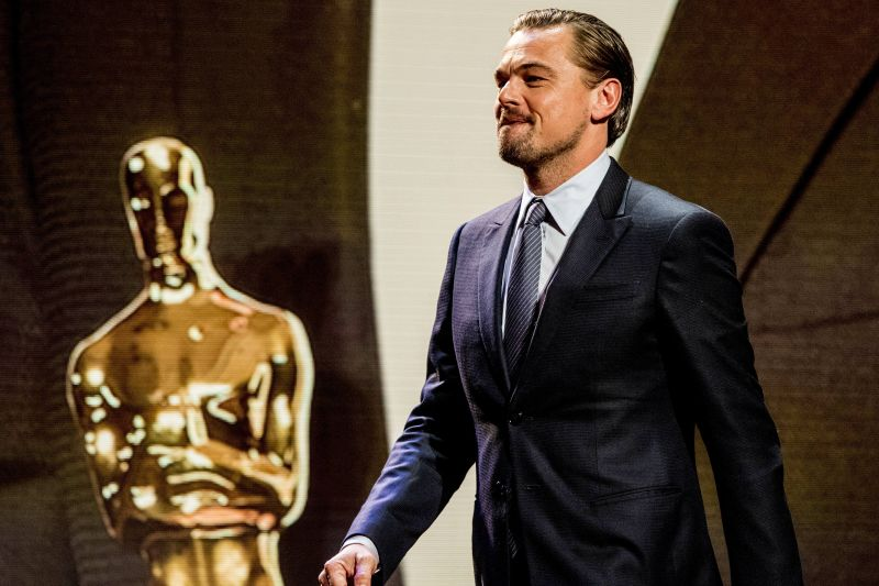 US actor Leonardo DiCaprio attends the Goed Geld Gala charity event at The Theatre Carre in Amsterdam, Netherlands, on February 15, 2018. Photo by Robin Utrecht/ABACAPRESS.COM Dostawca: PAP/Abaca