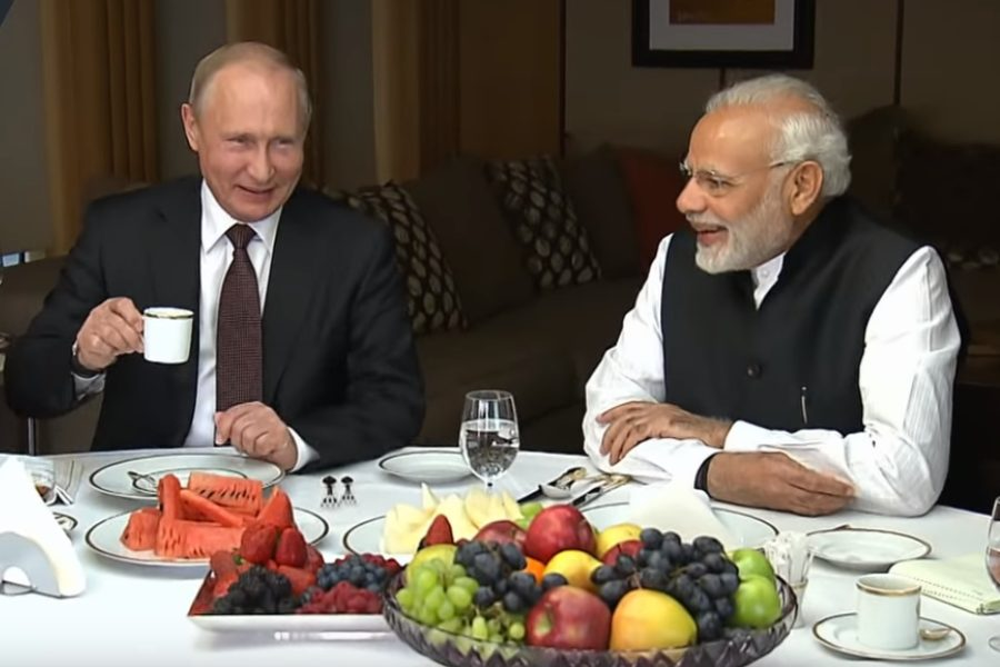 Władimir Putin, Narenda Modi fot. screen youtube.com/ruptly