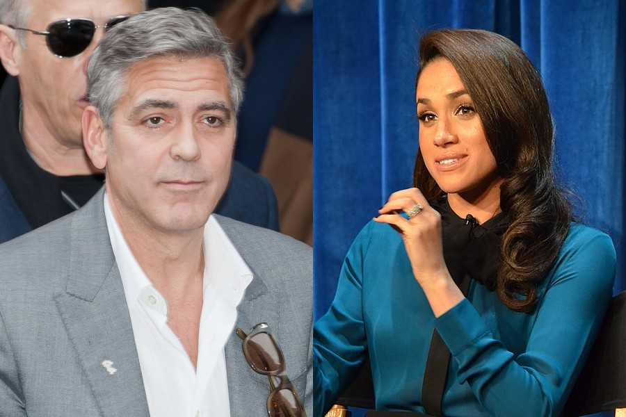 George Clooney i Meghan Markle, fot. Siebbi, CC BY 3.0, Wikimedia Commons/Genevieve, CC BY 2.0, Wikimedia Commons (kolaż)