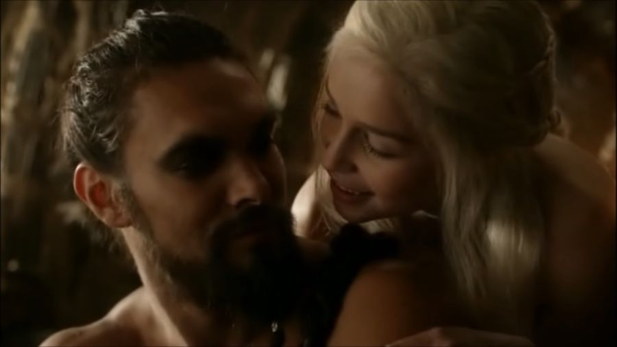 "Khaleesi i Khal Drogo z ""Gry o tron"", fot. screen YouTube"