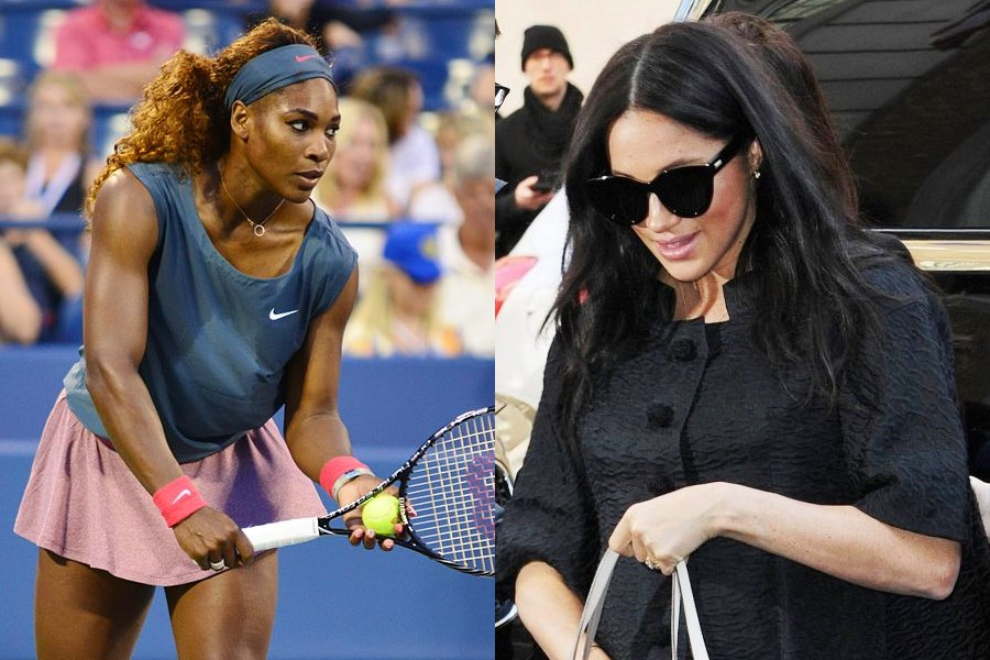 Serena Williams i Meghan Markle, fot.Edwin Martinez, CC BY 2.0, Wikimedia Commons/PAP/PA (kolaż)