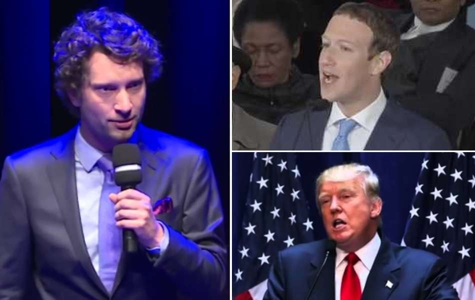 Dr Michał Kosiński, Mark Zuckerberg, Donald Trump. / foto: YouTube