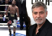 Floyd Mayweather i George Clooney / fot. PAP