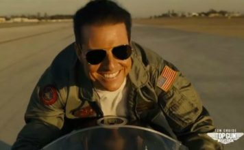 Tom Cruise jako Maverick w filmie Top Gun fot. Twitter @TopGunMovie