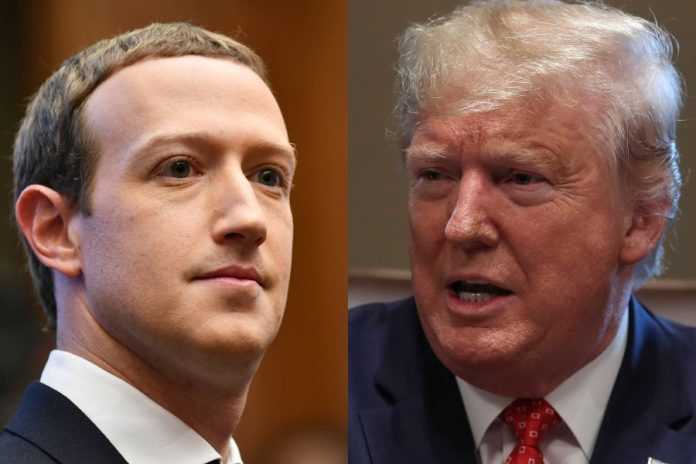 Mark Zuckerberg, Donald Trump. Foto: PAP/EPA