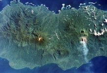 Bougainville widoczne z satelity/fot. Wikimedia Commons