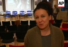 Olga Tokarczuk/fot. YouTube/AP Archive