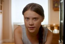 Greta Thunberg. Foto: print screen z YouTube/Conservation International