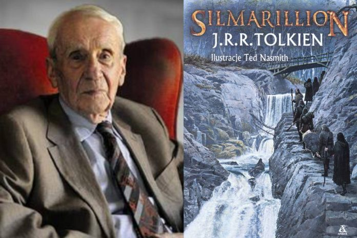 Christopher Tolkien i Silmarillion. Foto: Facebook/ Wydawnictwo Amber