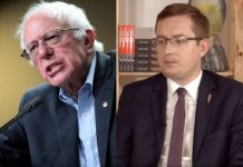Bernie Sanders i Robert Winnicki. Foto: YouTube/NCzasTV/Flickr (kolaż)