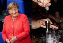Angela Merkel, wódka Źródło: PAP, Pixabay, collage