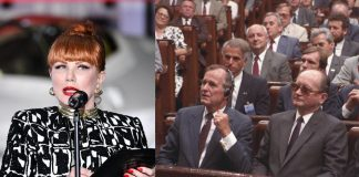 Georgette Mosbacher, George Bush, Wojciech Jaruzelski Źródło: PAP, collage
